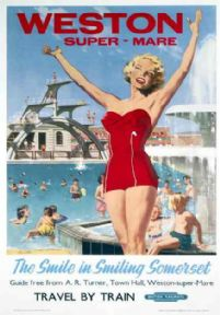 Weston Super Mare, Somerset, British Railways Travel Poster Print